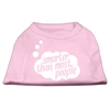 Mirage Pet Products Smarter then Most People Screen Printed Dog Shirt   Light Pink XL (16)
