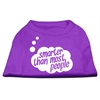 Mirage Pet Products Smarter then Most People Screen Printed Dog Shirt   Purple Med (12)
