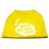 Mirage Pet Products Smarter then Most People Screen Printed Dog Shirt Yellow Med (12)