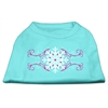 Mirage Pet Products Pink Snowflake Swirls Screenprint Shirts Aqua XS (8)