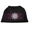 Mirage Pet Products Pink Snowflake Swirls Screenprint Shirts Black XXL (18)