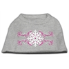 Mirage Pet Products Pink Snowflake Swirls Screenprint Shirts Grey XS (8)