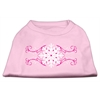 Mirage Pet Products Pink Snowflake Swirls Screenprint Shirts Light Pink XL (16)