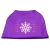 Mirage Pet Products Pink Snowflake Swirls Screenprint Shirts Purple S (10)