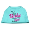 Mirage Pet Products New Bitch in Town Screen Print Dog Shirt Aqua Med (12)