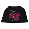 Mirage Pet Products New Bitch in Town Screen Print Dog Shirt Black XS (8)