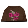 Mirage Pet Products New Bitch in Town Screen Print Dog Shirt Brown XXL (18)