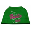 Mirage Pet Products New Bitch in Town Screen Print Dog Shirt Green Lg (14)