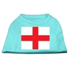 Mirage Pet Products St. George's Cross (English Flag) Screen Print Shirt Aqua XS (8)
