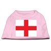 Mirage Pet Products St. George's Cross (English Flag) Screen Print Shirt Light Pink XL (16)