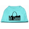 Mirage Pet Products St Louis Skyline Screen Print Shirt Aqua XS (8)