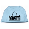 Mirage Pet Products St Louis Skyline Screen Print Shirt Baby Blue XS (8)