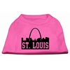 Mirage Pet Products St Louis Skyline Screen Print Shirt Bright Pink Med (12)