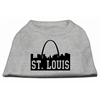 Mirage Pet Products St Louis Skyline Screen Print Shirt Grey XS (8)