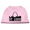 Mirage Pet Products St Louis Skyline Screen Print Shirt Light Pink XS (8)