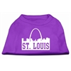 Mirage Pet Products St Louis Skyline Screen Print Shirt Purple XS (8)