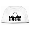 Mirage Pet Products St Louis Skyline Screen Print Shirt White XXL (18)