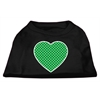 Mirage Pet Products Green Swiss Dot Heart Screen Print Shirt Black XS (8)