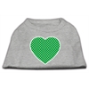 Mirage Pet Products Green Swiss Dot Heart Screen Print Shirt Grey XS (8)