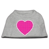 Mirage Pet Products Pink Swiss Dot Heart Screen Print Shirt Grey XS (8)