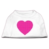 Mirage Pet Products Pink Swiss Dot Heart Screen Print Shirt White XL (16)
