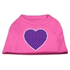 Mirage Pet Products Purple Swiss Dot Heart Screen Print Shirt Bright Pink Sm (10)