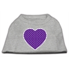 Mirage Pet Products Purple Swiss Dot Heart Screen Print Shirt Grey XS (8)