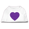 Mirage Pet Products Purple Swiss Dot Heart Screen Print Shirt White S (10)