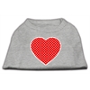 Mirage Pet Products Red Swiss Dot Heart Screen Print Shirt Grey XS (8)