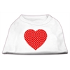 Mirage Pet Products Red Swiss Dot Heart Screen Print Shirt White XS (8)