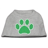 Mirage Pet Products Green Swiss Dot Paw Screen Print Shirt Grey Med (12)