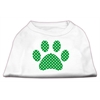 Mirage Pet Products Green Swiss Dot Paw Screen Print Shirt White XXXL(20)