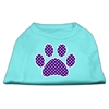 Mirage Pet Products Purple Swiss Dot Paw Screen Print Shirt Aqua XS (8)