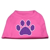 Mirage Pet Products Purple Swiss Dot Paw Screen Print Shirt Bright Pink XS (8)