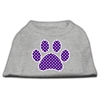 Mirage Pet Products Purple Swiss Dot Paw Screen Print Shirt Grey XS (8)