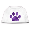 Mirage Pet Products Purple Swiss Dot Paw Screen Print Shirt White XXXL (20)