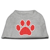 Mirage Pet Products Red Swiss Dot Paw Screen Print Shirt Grey XS (8)