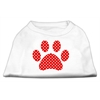 Mirage Pet Products Red Swiss Dot Paw Screen Print Shirt White XXXL(20)