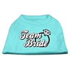 Mirage Pet Products Team Bride Screen Print Shirt Aqua Sm (10)