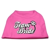 Mirage Pet Products Team Bride Screen Print Shirt Bright Pink XS (8)