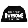 Mirage Pet Products This is What Awesome Looks Like Dog Shirt Black XXL (18)