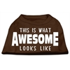 Mirage Pet Products This is What Awesome Looks Like Dog Shirt Brown Med (12)