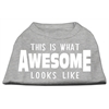 Mirage Pet Products This is What Awesome Looks Like Dog Shirt Grey XS (8)