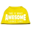 Mirage Pet Products This is What Awesome Looks Like Dog Shirt Yellow XS (8)