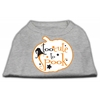 Mirage Pet Products Too Cute to Spook Screen Print Dog Shirt Grey XS (8)
