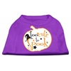 Mirage Pet Products Too Cute to Spook Screen Print Dog Shirt Purple XS (8)