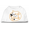 Mirage Pet Products Too Cute to Spook Screen Print Dog Shirt White XS (8)