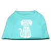 Mirage Pet Products Trapped Screen Print Shirt Aqua Sm (10)