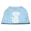 Mirage Pet Products Trapped Screen Print Shirt Baby Blue Lg (14)