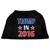 Mirage Pet Products Trump in 2016 Election Screenprint Shirts Black XS (8)